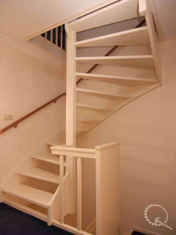 Soorten houten trappen trap in beeld vuren open for Dichte trap maken