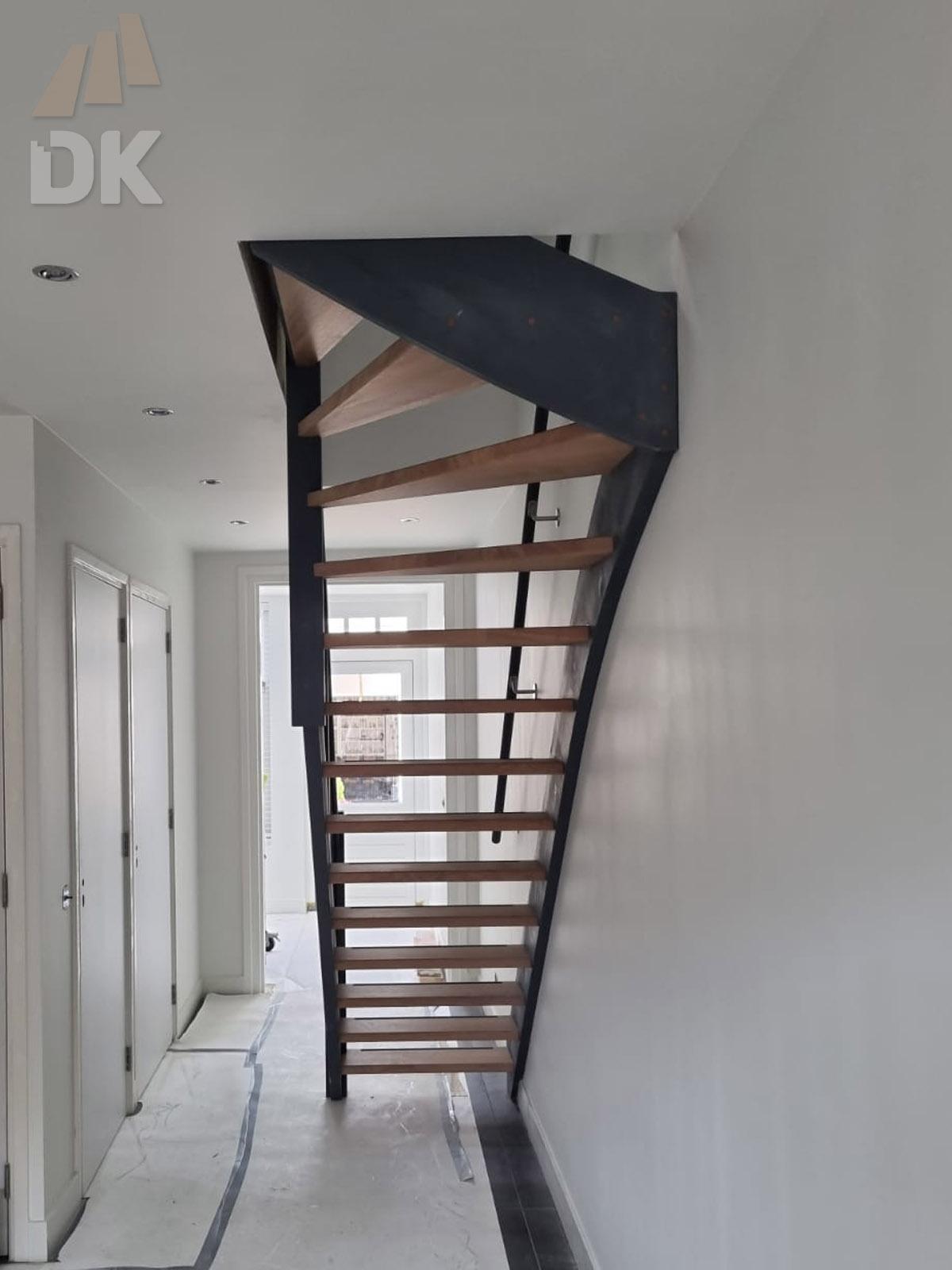 Eiken open bovenkwart trap - Foto 3
