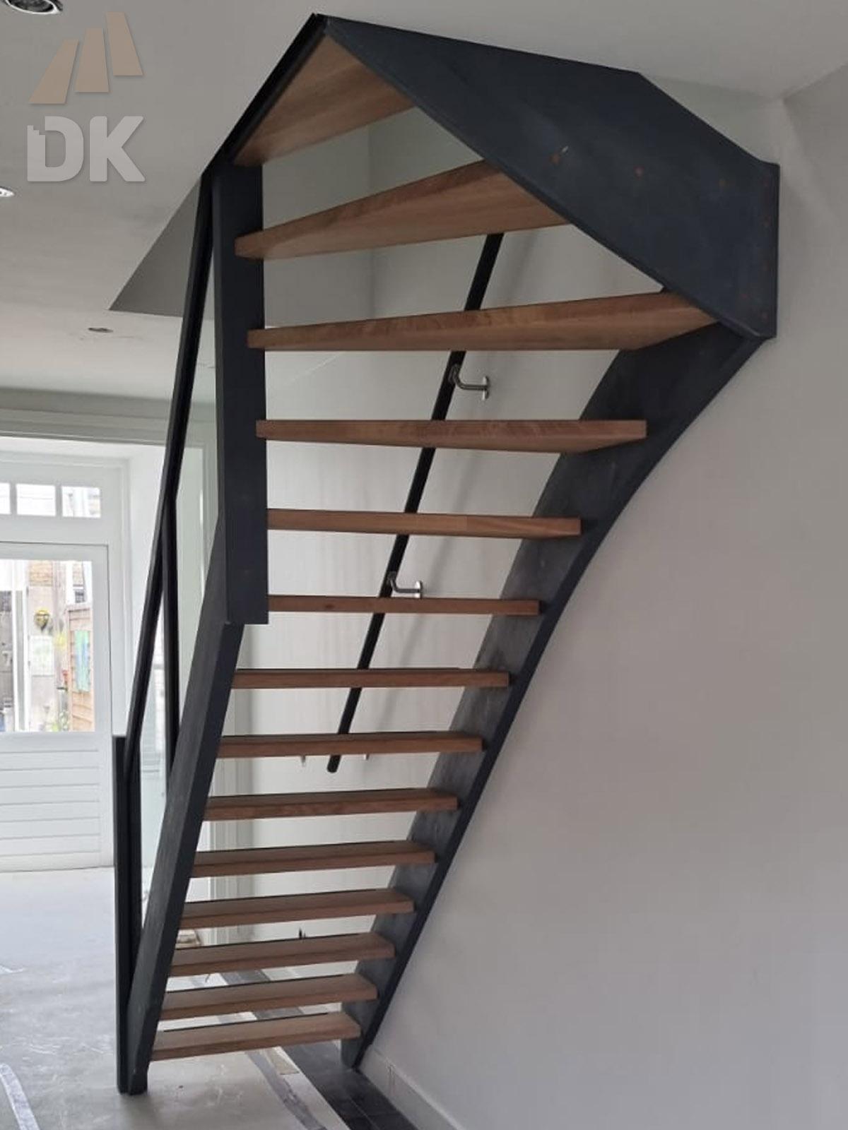 Eiken open bovenkwart trap - Foto 1