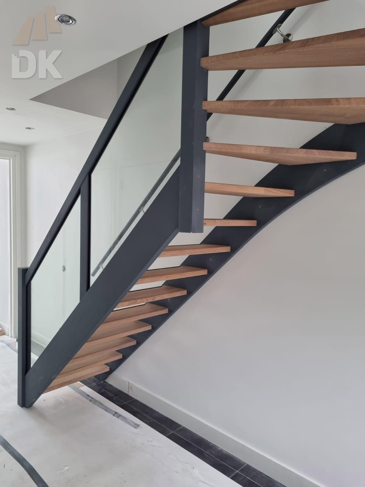 Eiken open bovenkwart trap - Foto 2