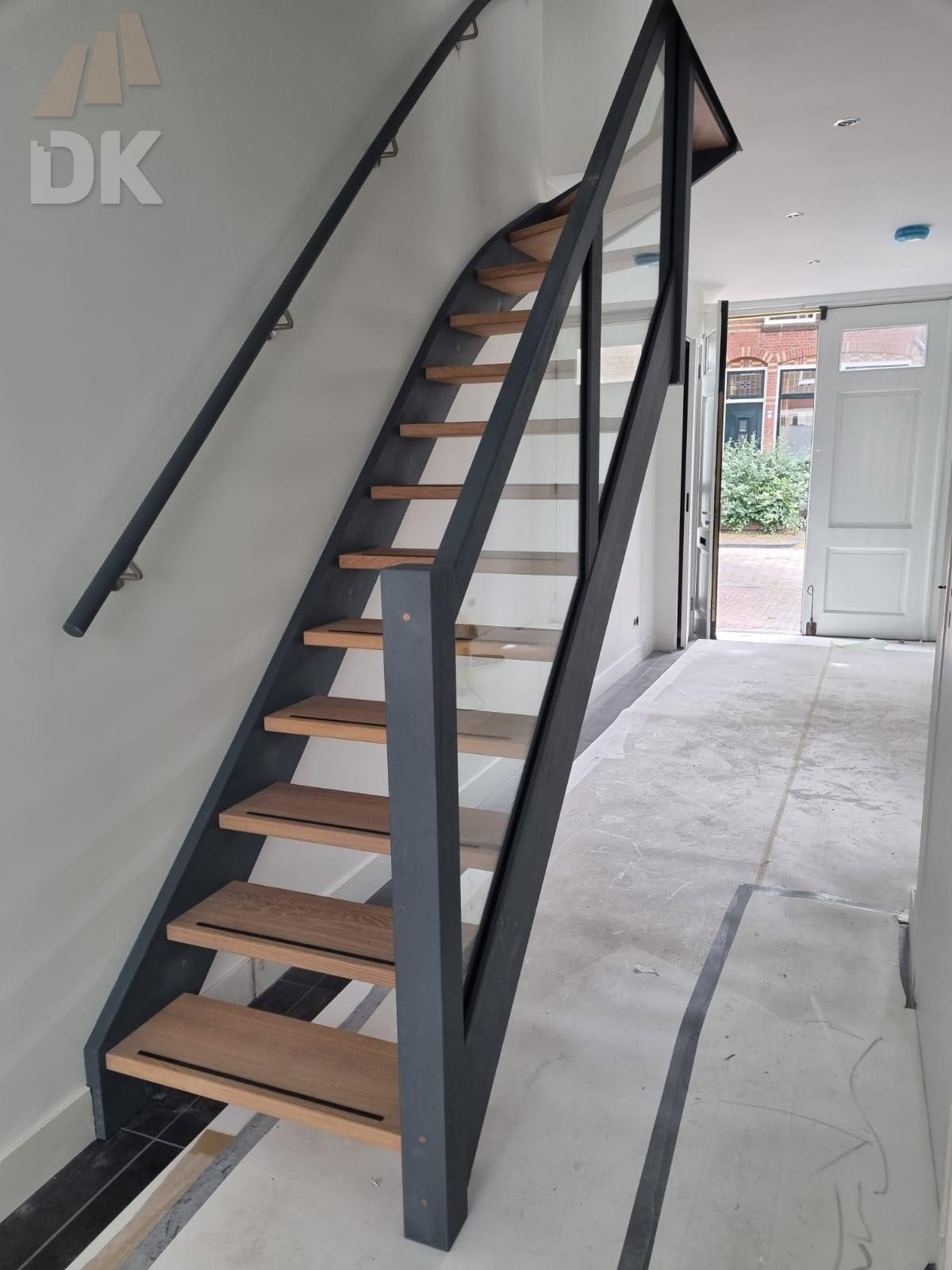 Eiken open bovenkwart trap - Foto 4