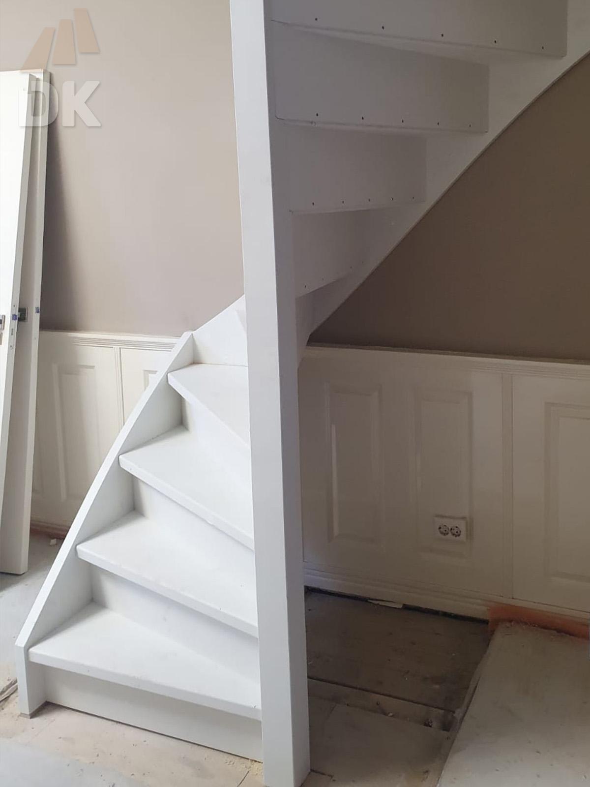 Stalen trap vervangen door dubbel kwarttrap - Foto 2