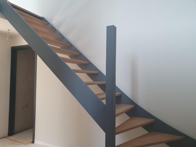 Eiken trap met onderkwart - Foto 4