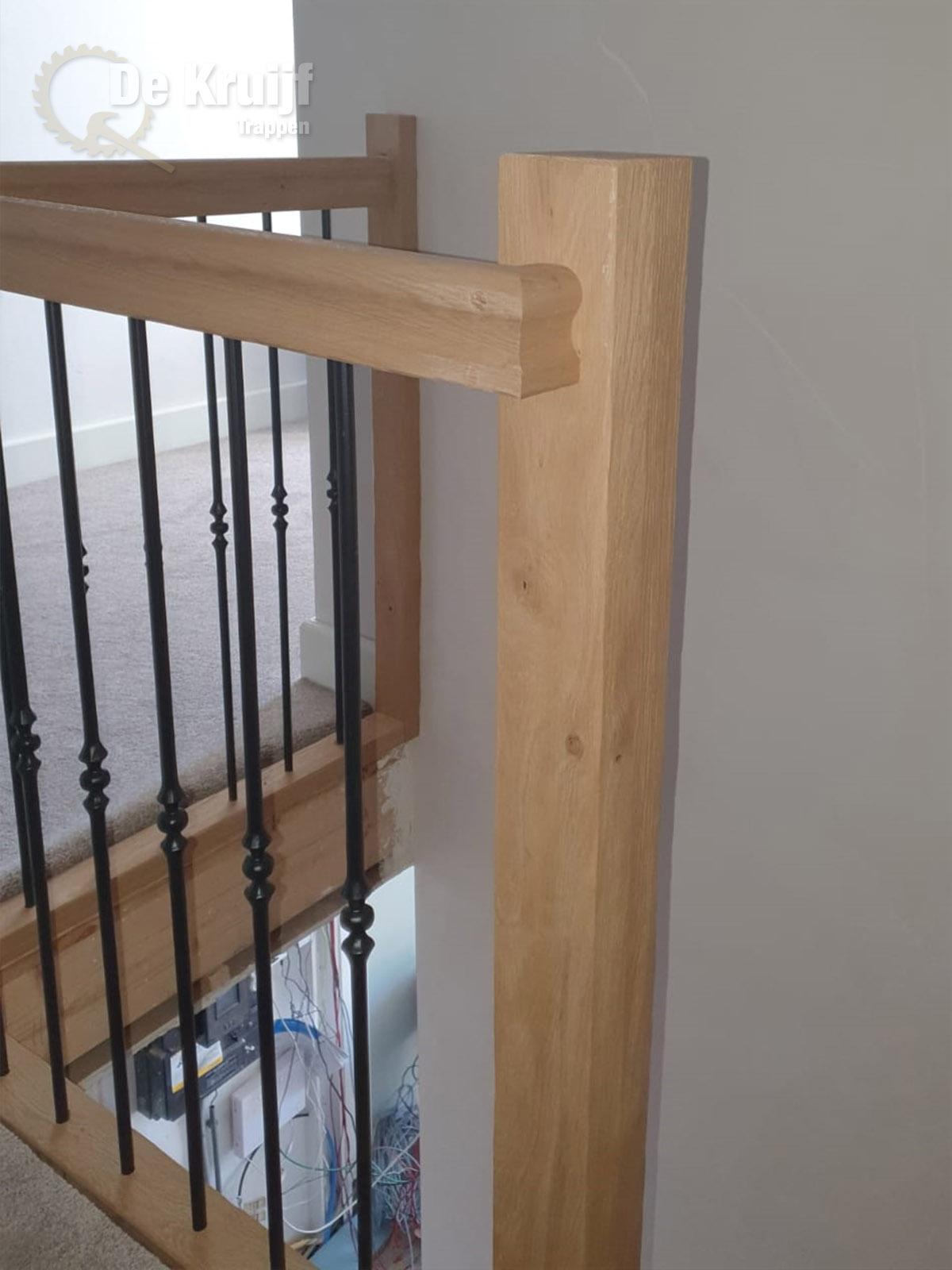 Rustiek Eiken trap met bordes - Foto 6