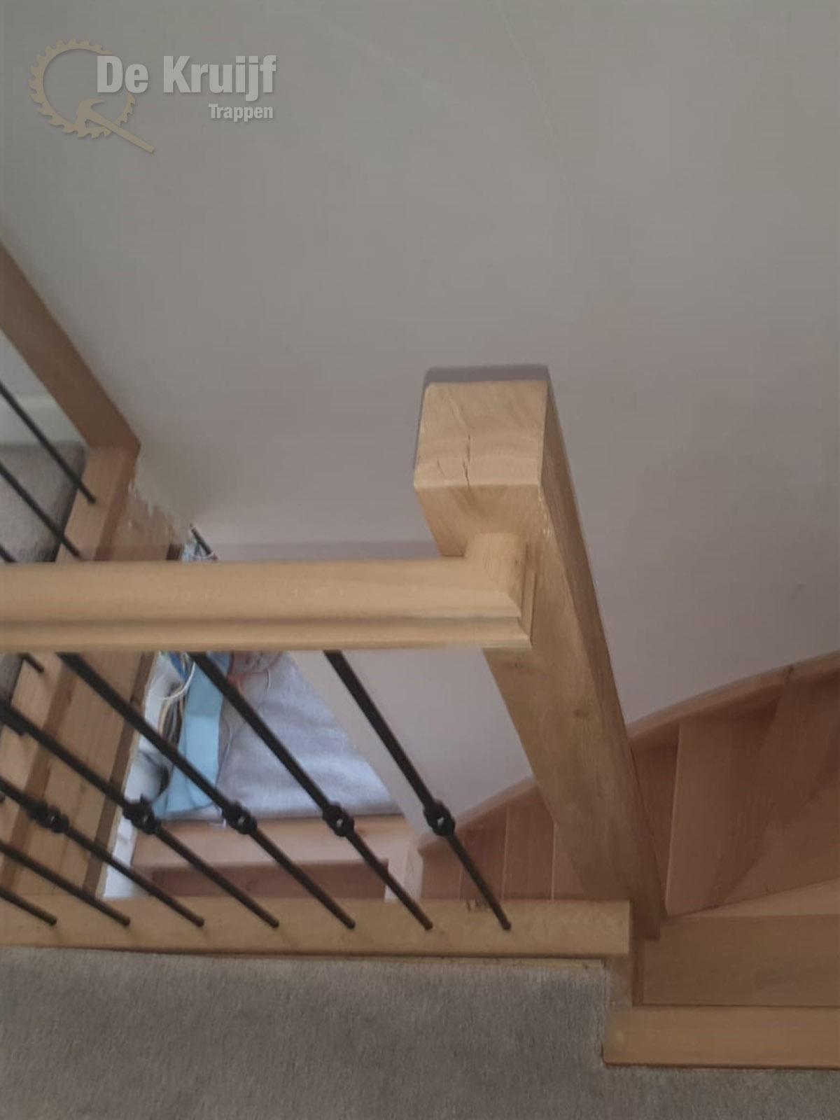 Rustiek Eiken trap met bordes - Foto 4
