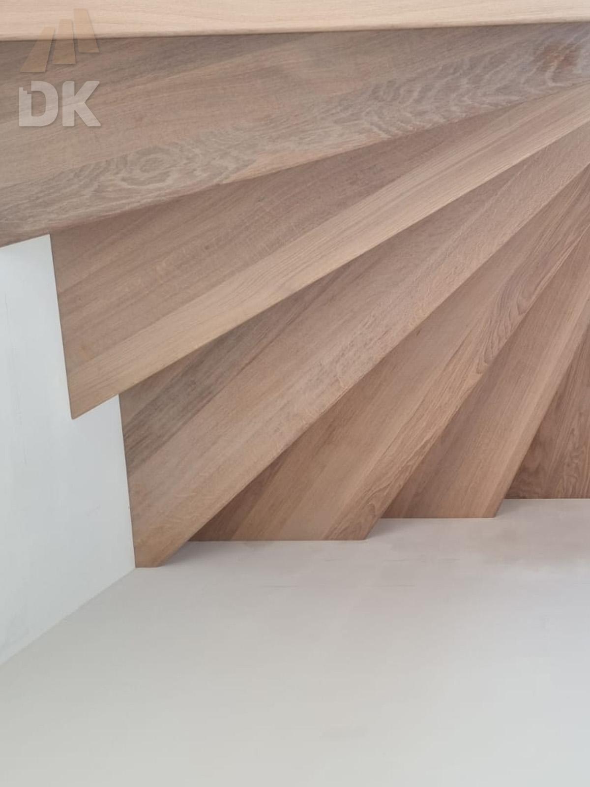 Eiken Z-trap met bovenkwart - Foto 3