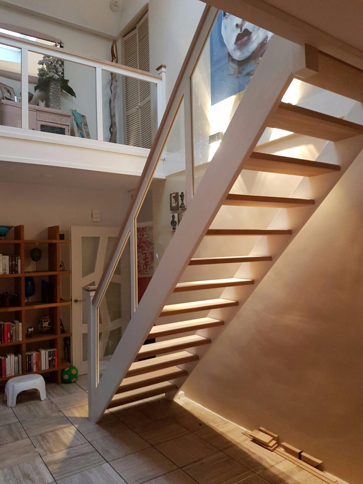 Hardhouten eiken trap glazen balustrade - Foto 11