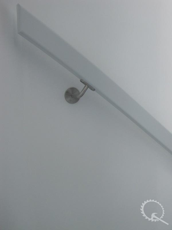 Leuning 38x70mm met RVS leuningdrager