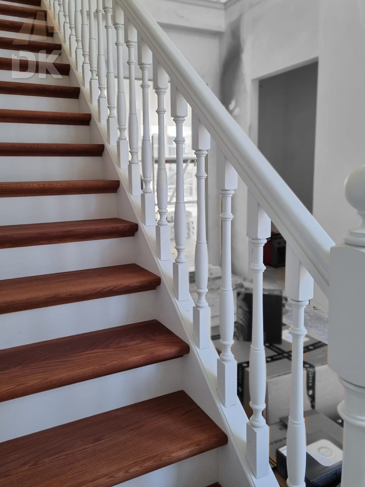 Prachtige mahonie trappen met eiken treden - Foto 1