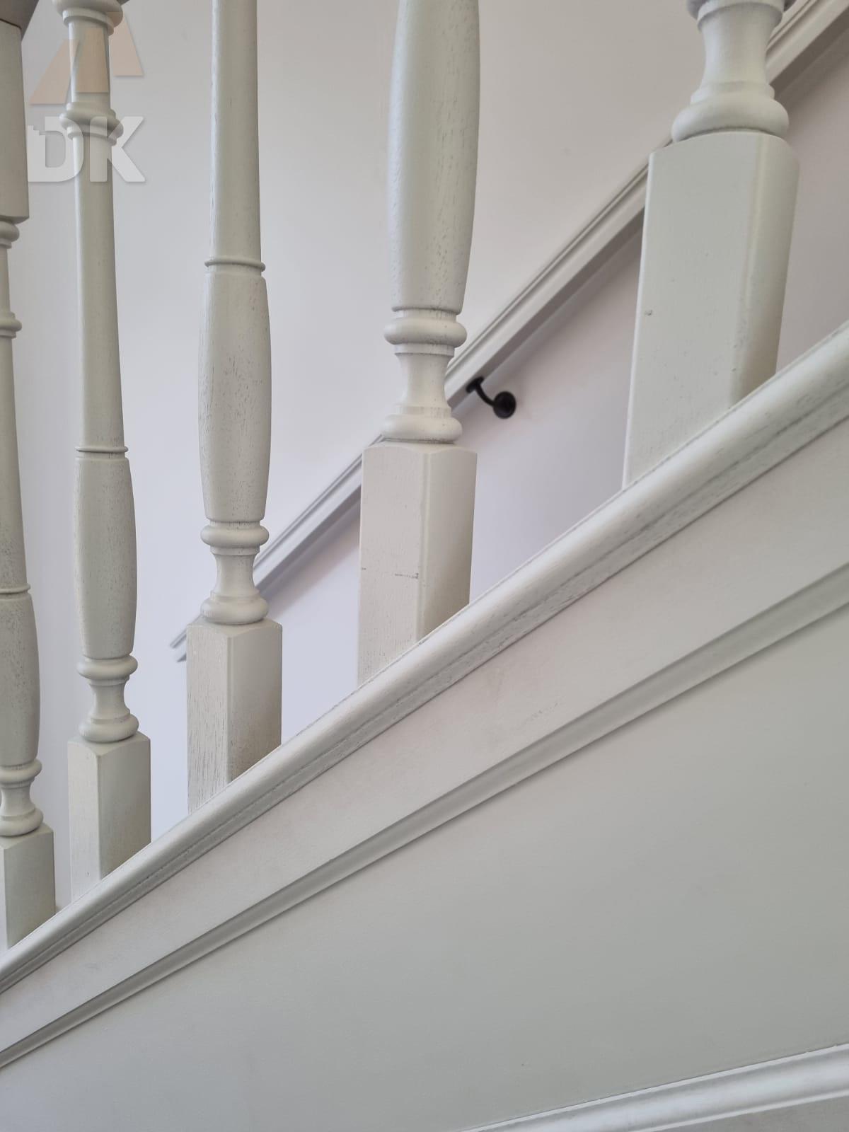 Prachtige mahonie trappen met eiken treden - Foto 2