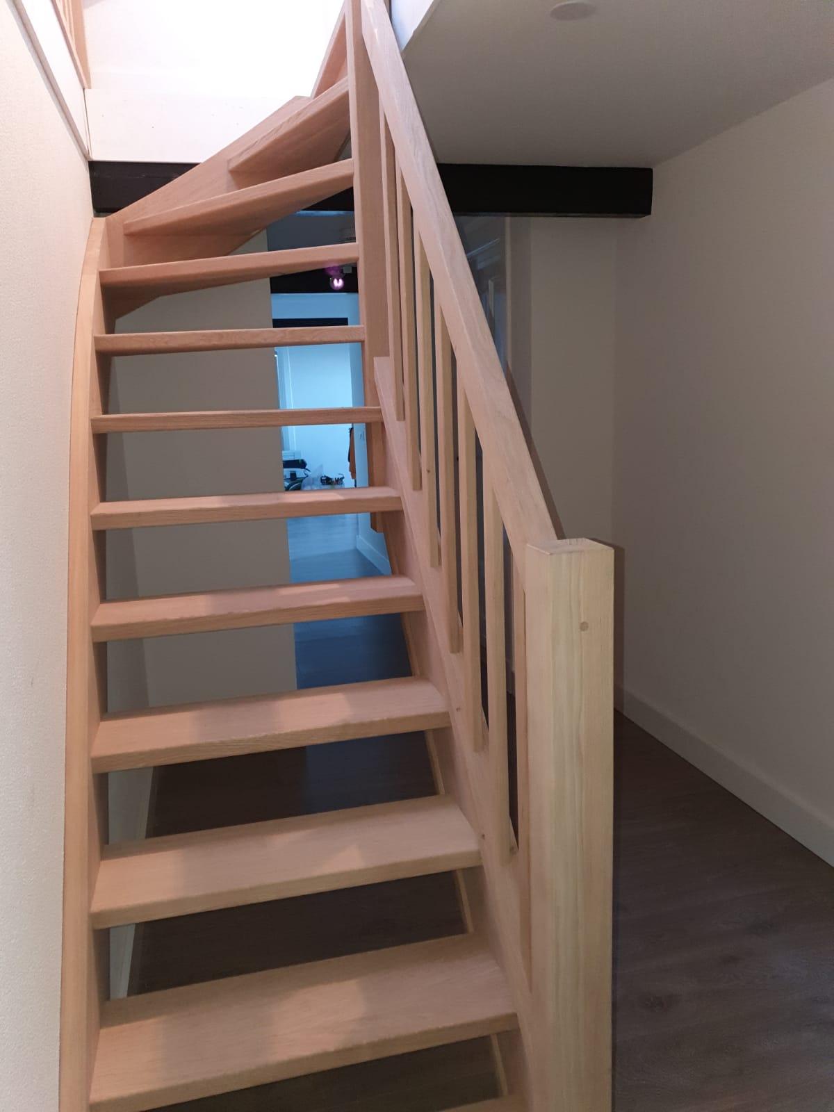 Eiken trap, gezandstraald - Foto 4