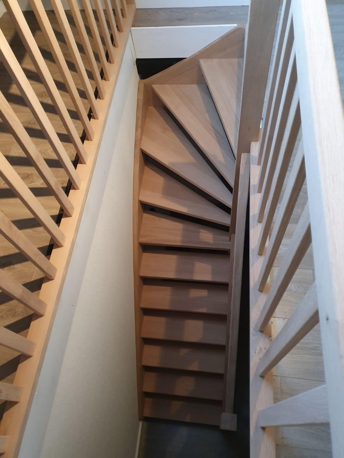 Eiken trap, gezandstraald - Foto 5