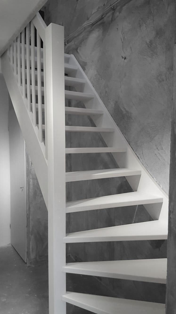 Vuren houten trap - Foto 1